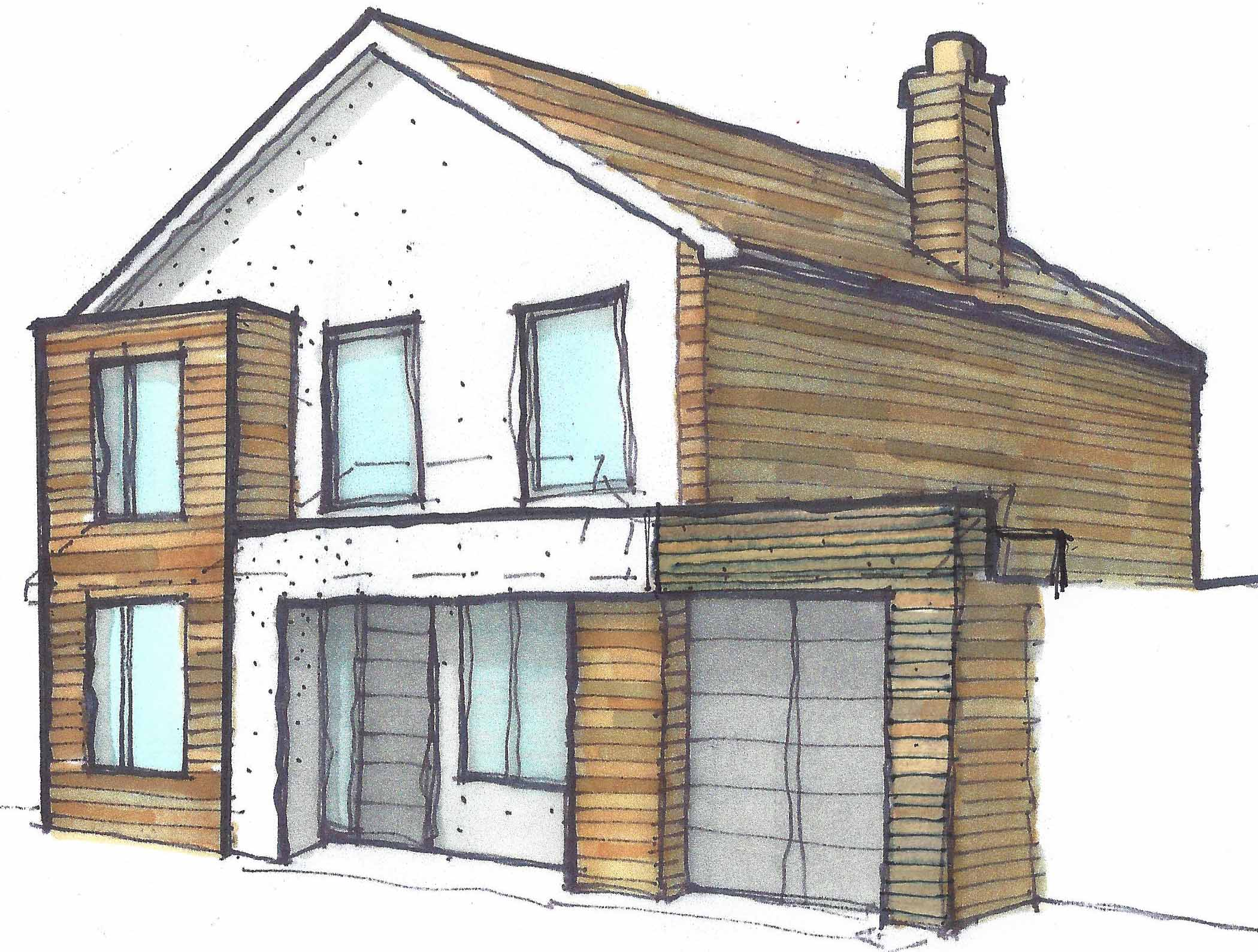 Marguerite Murdoch Architects - Based in Teddington, Richmond Upon Thames - Project Process - Detail Design Sketch